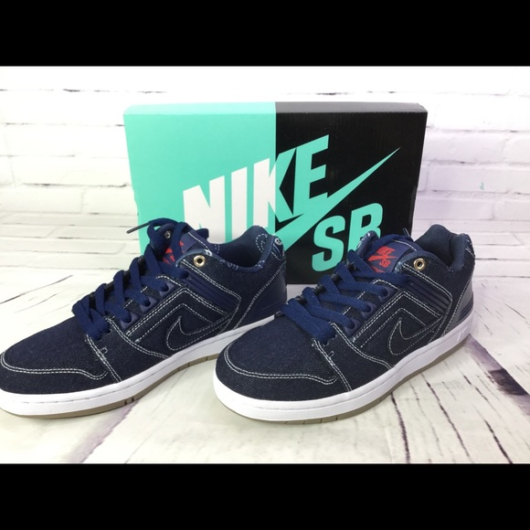 first rate 02f33 8d4b4 Nike Shoes | Sb Air Force 2 East West Denim Sneakers Sz 6 | Poshmark
